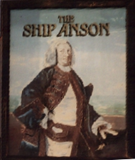 Pub sign of the Ship Anson